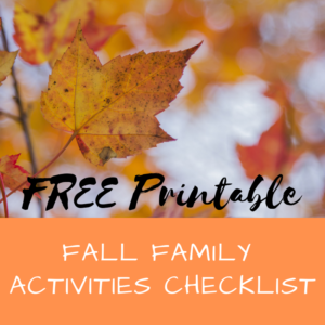 free printable fall family activities checklist