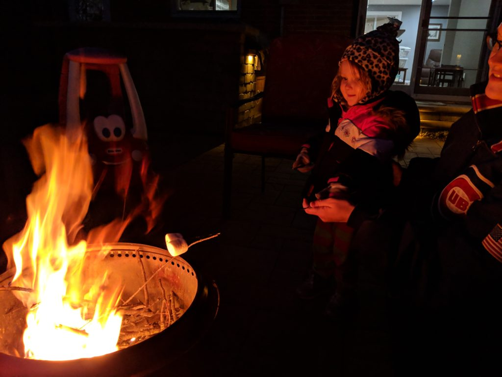 photo of bonfire, a fun family fall activity