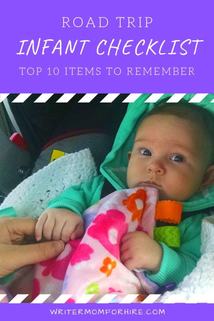 pinterest graphic road trip infant checklist