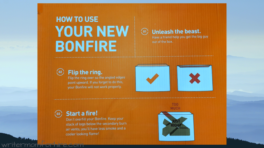 graphic solo stove bonfire fire pit instructions