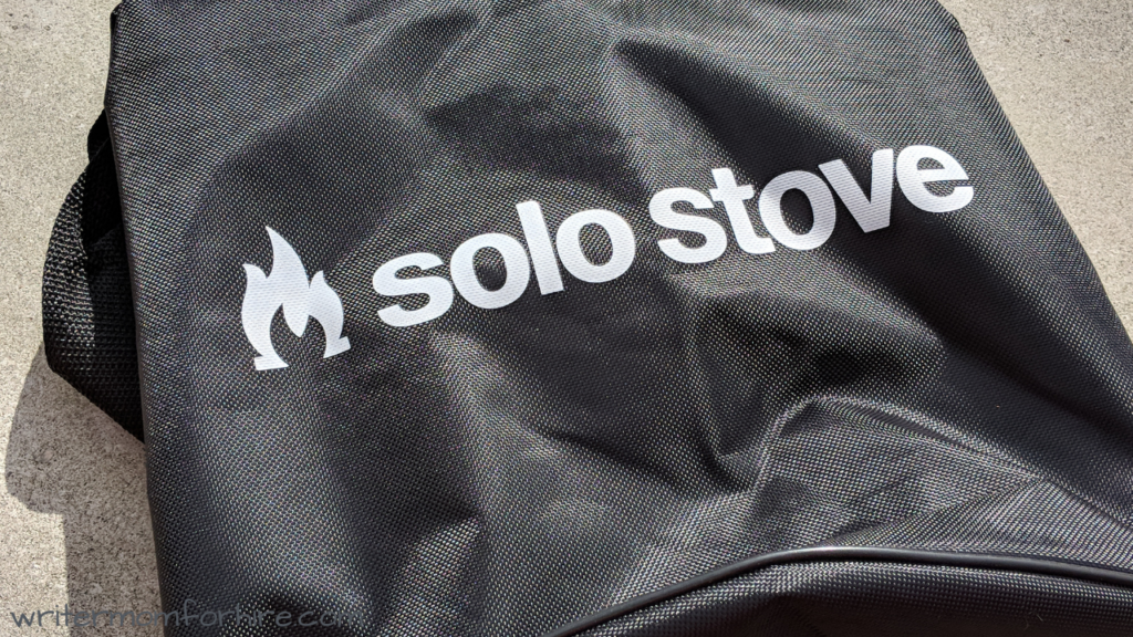photo of solo stove bonfire fire pit carrying case