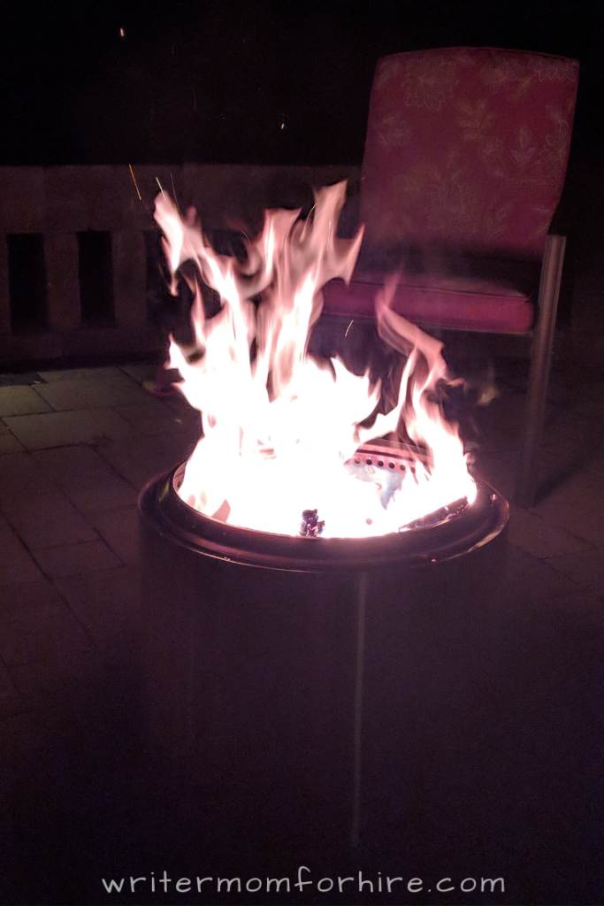 photo of solo stove bonfire fire pit
