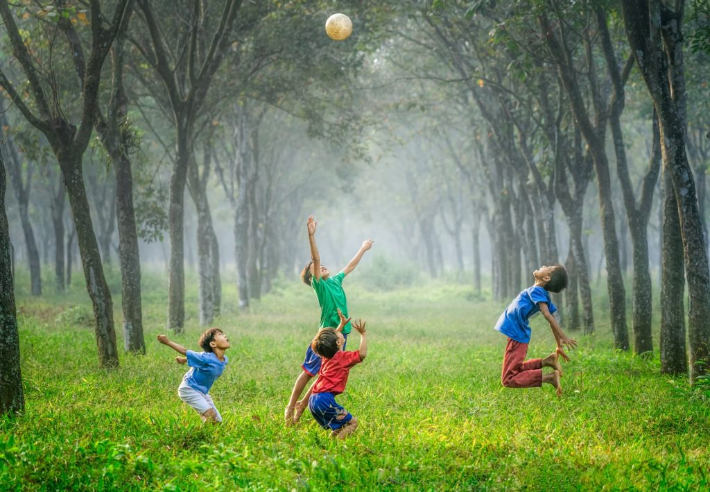 photo of kids playing
