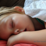 photo of toddler sleeping