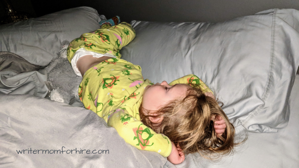 photo of toddler sleeping | natural sleep aids for toddlers