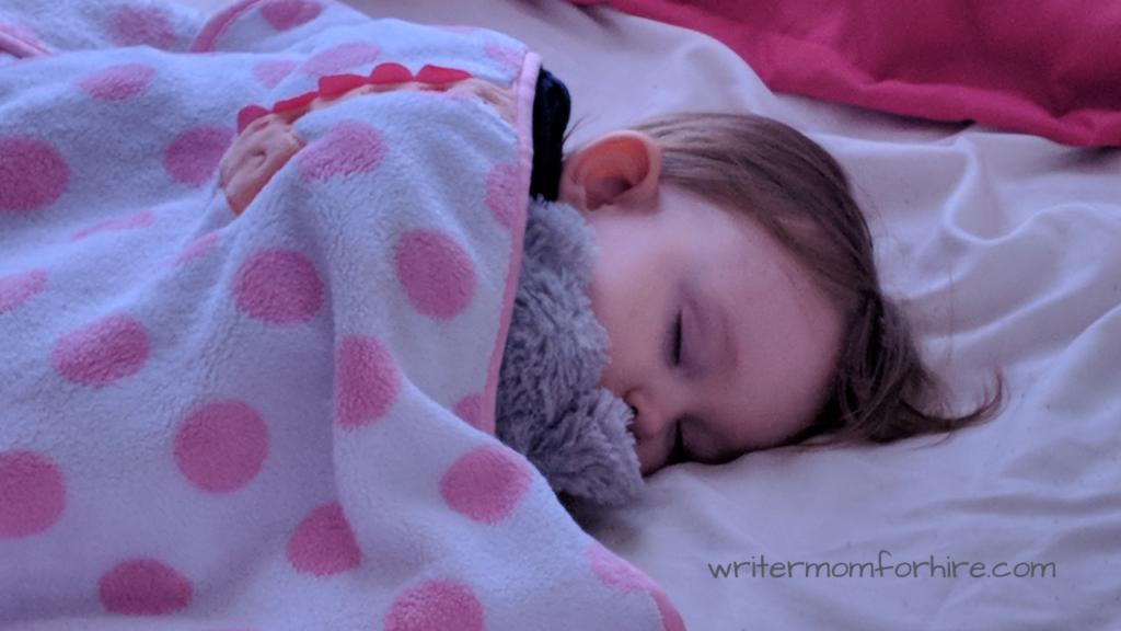 photo of sleeping toddler | child sleep aids