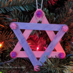 easy christmas crafts for toddlers popsicle stick star ornament