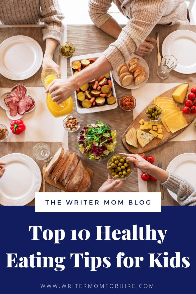 pinterest graphic healthy eating tips for kids