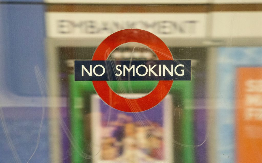 photo of no smoking sign healthy new years resolutions for busy moms
