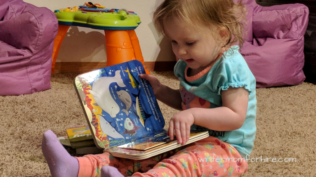 photo of toddler reading