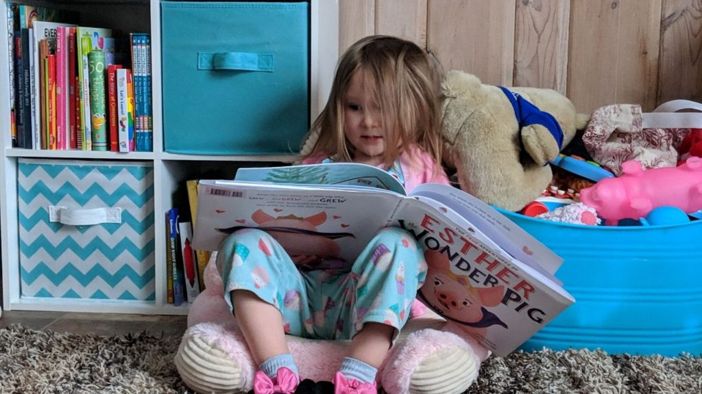 photo of my child reading
