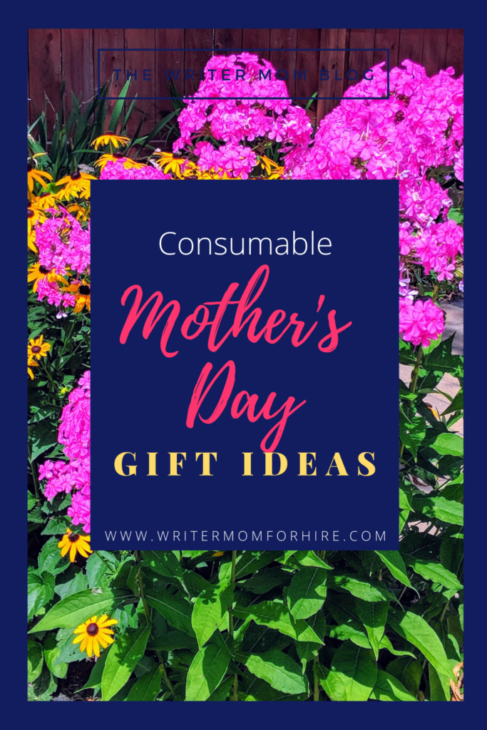 pinterest graphic consumable mother's day gifts for minimalist moms