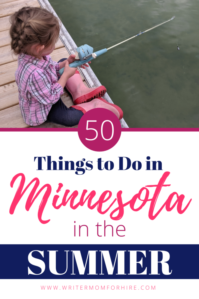 pinterest graphic 50 things to do in minnesota in the summer
