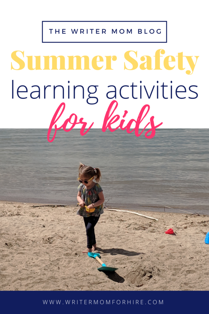 pinterest graphic for summer safety learning activities for kids | toddlers preschoolers kindergarten
