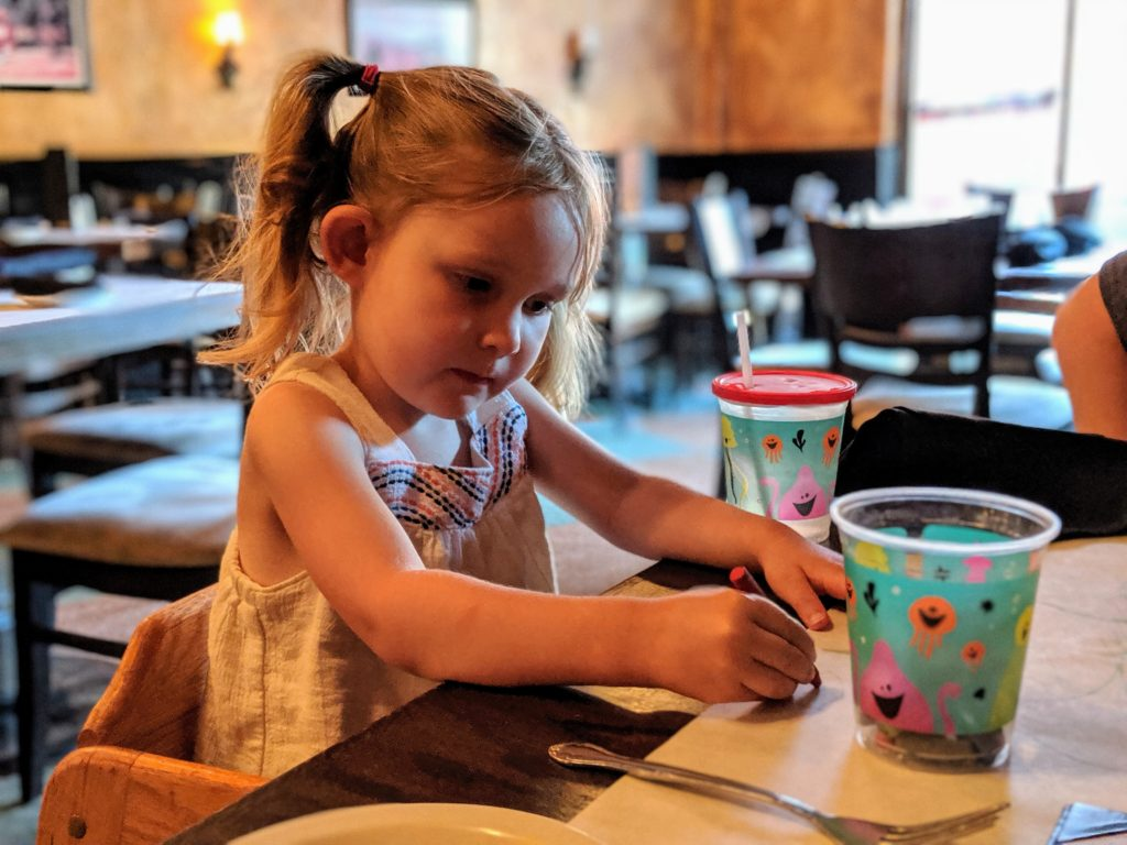 photo of k at the italian restaurant | storybook land aberdeen sd