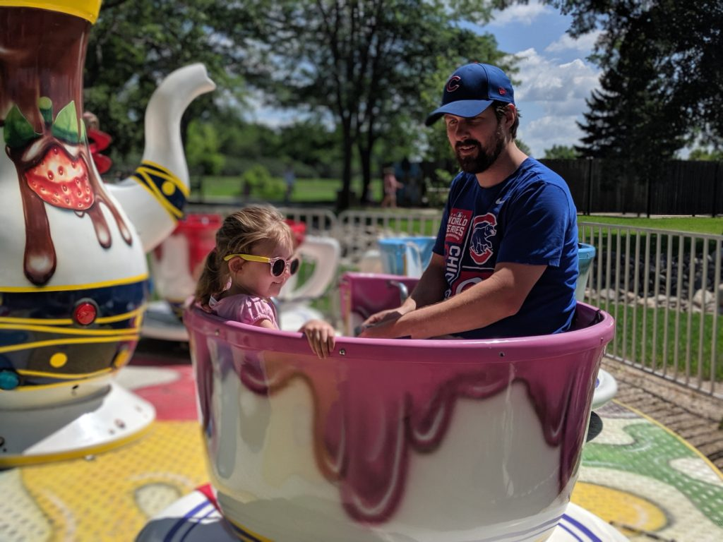 photo of the teacup ride | storybook land aberdeen sd