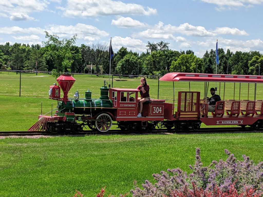 photo of the train ride | our trip to storybook land in aberdeen sd