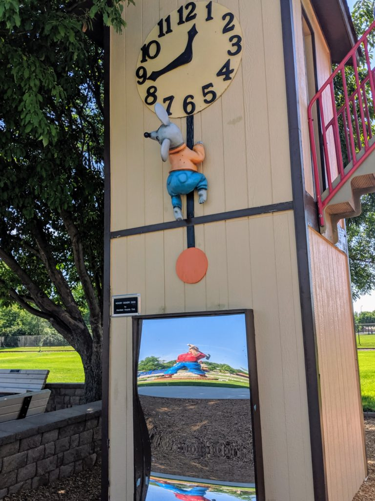 photo of the clock | storybook land aberdeen sd