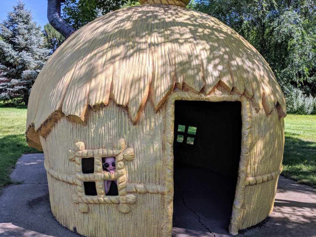 photo of the straw house | our trip to storybook land in aberdeen sd