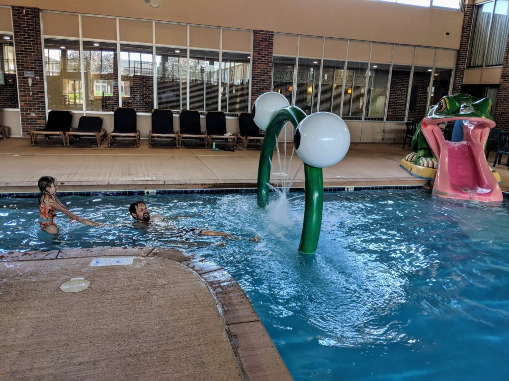 photo of the hotel pool | storybook land aberdeen sd