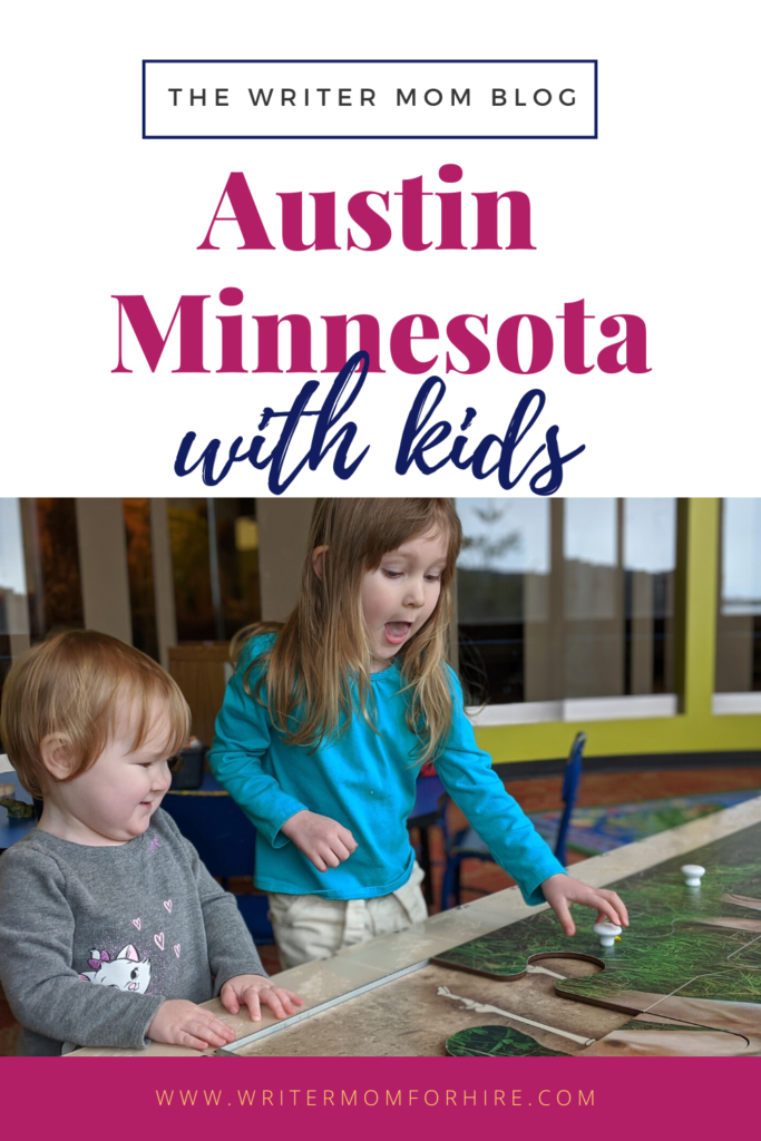 pinterest graphic for best things to do in austin mn with kids