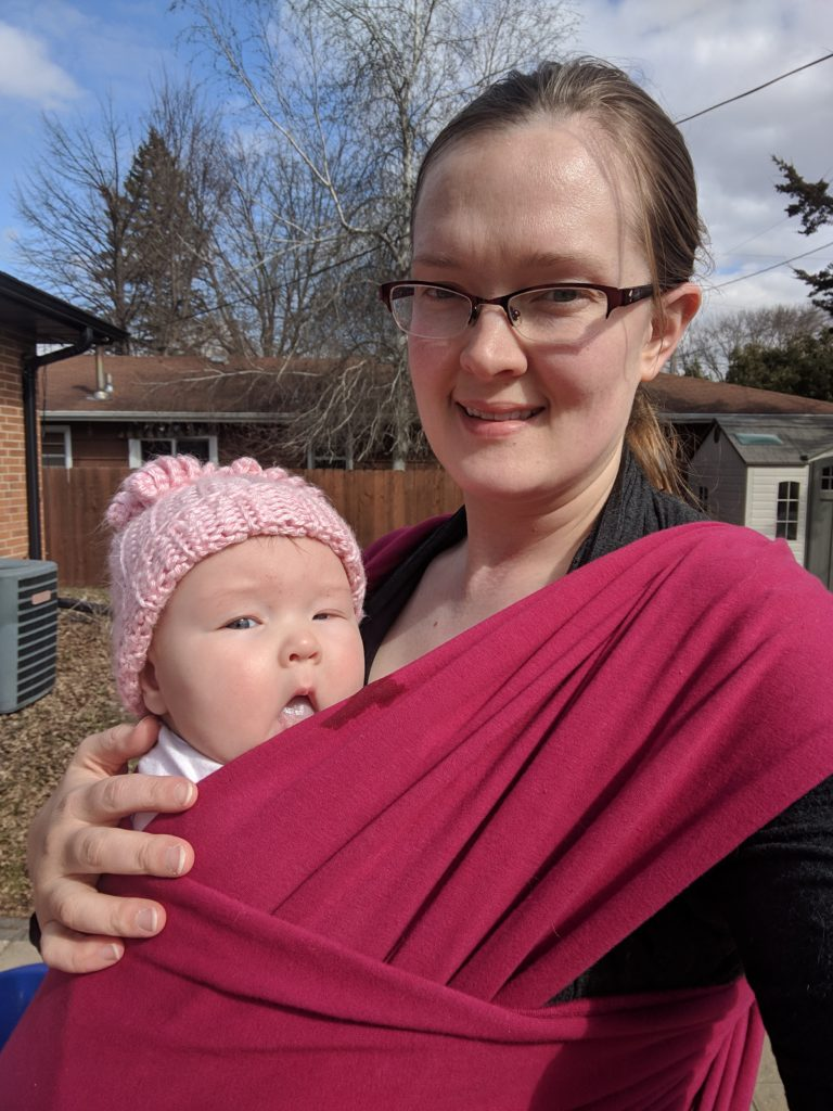 photo of the author and her baby