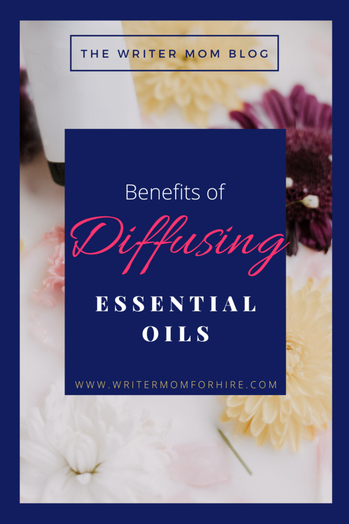 pinterest graphic for top 9 essential oil diffuser benefits