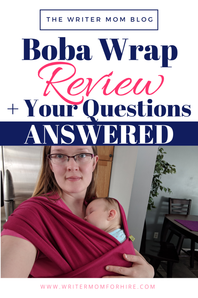 pinterest image for boba baby wrap product review