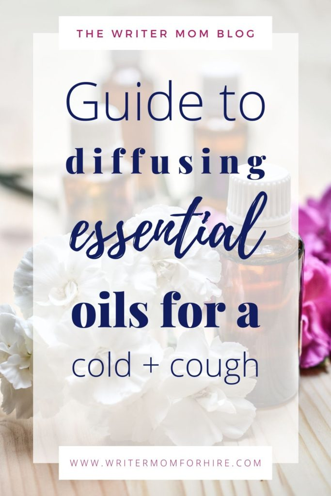 pinterest graphic | diffusing essential oils for colds and cough + essential oils for colds to diffuse