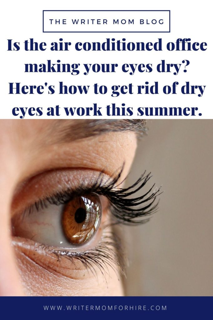 pinterest graphic | how to get rid of dry eyes